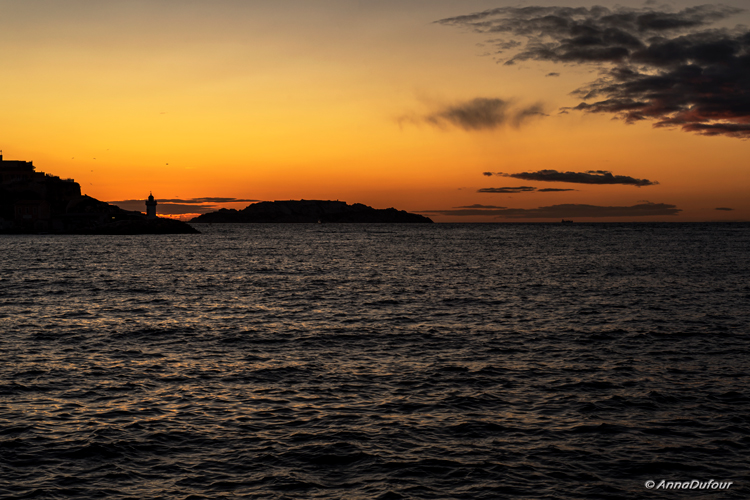 Sunrise in Marseille by Anna Dufour